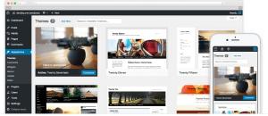 Capture écran WordPress Desktop et portable