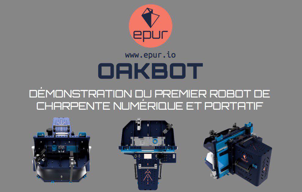 Démonstration du premier robot portatif de charpente numérique