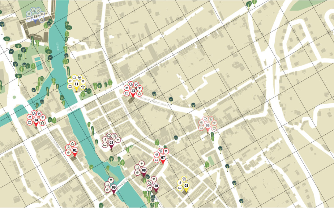 Présentation de la cartographie «Le Numérique à pied»